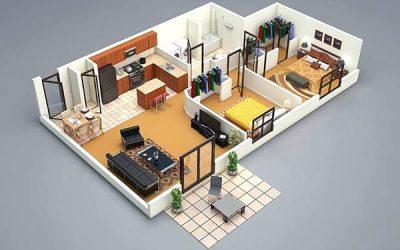 Báo giá 99 mẫu thiết kế nội thất căn hộ chung cư đẹp 60m2 2 phòng ngủ
