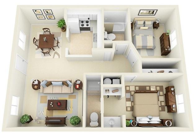 Chuyên tư vấn thiết kế nội thất căn hộ chung cư 60m2 đẹp rẻ tại TPHCM 5