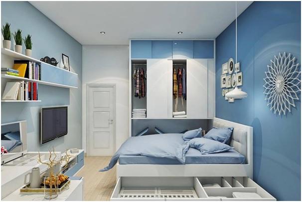 Thiết kế, cung cấp nội thất căn hộ chung cư 1 phòng ngủ đẹp, rẻ tại TPHCM