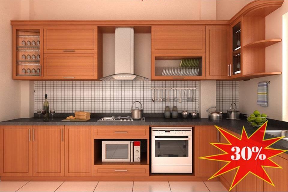 Tủ bếp gỗ đẹp giảm giá 30% – siêu khuyến mãi chỉ từ 4.800.000 VND