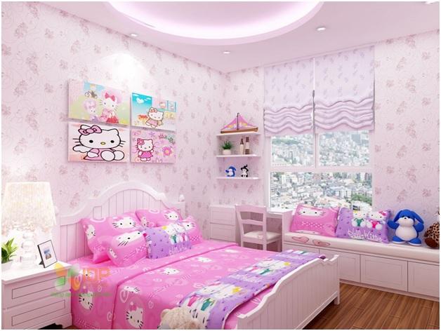 Nội thất phòng ngủ bé gái đẹp 1