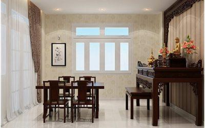 Bảng báo giá 10 mẫu nội thất phòng khách có bàn thờ đẹp tại TPHCM